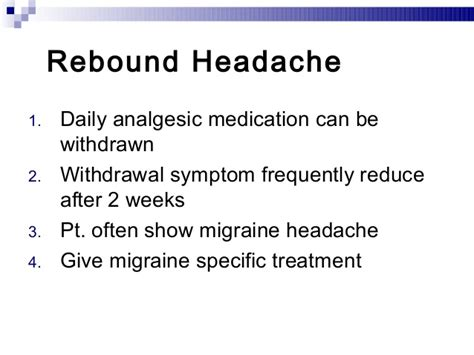 Detox From Rebound Headaches by Migraine And Tension Headache