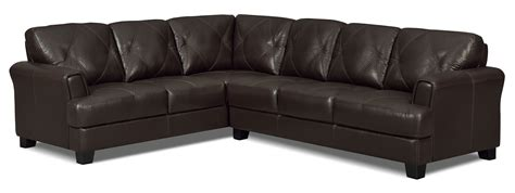 100 genuine leather sectional vita 2 piece 100 genuine leather left facing sectional