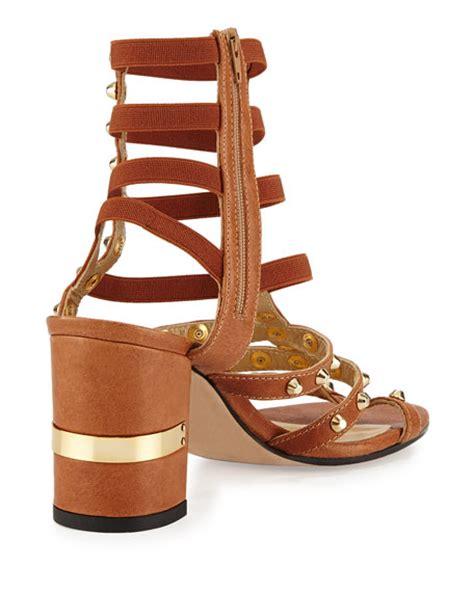 camel gladiator sandals stuart weitzman rivetcleo gladiator city sandal camel