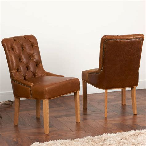 Leather Back Dining Chairs Vintage Leather Or Tweed Button Back Dining Chair By The Orchard Furniture Notonthehighstreet