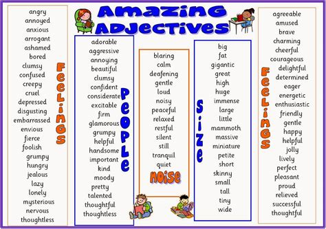 words describing new year geography list of adjectives