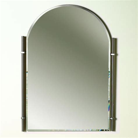 Traditional Brushed Nickel Chateau Bathroom Mirror Brushed Nickel Mirror For Bathroom