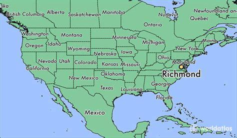 virginia usa map states where is richmond va richmond virginia map