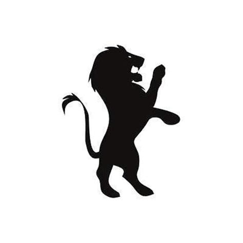 black small lion tattoo design