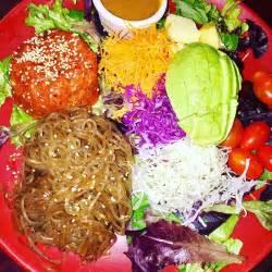 Nancys Sky Garden by Trio Plate With Sweet Potato Noodle N Spicy Tuna