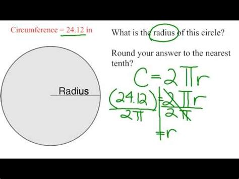 how to calculate radius of a circle given circumference