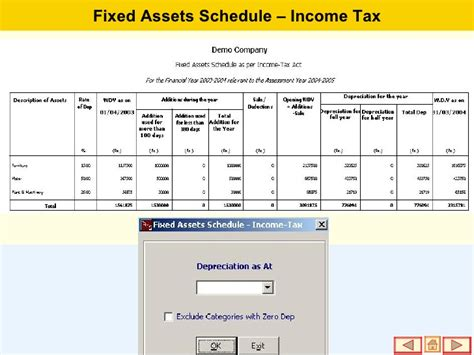 asset schedule template fixed assets management software