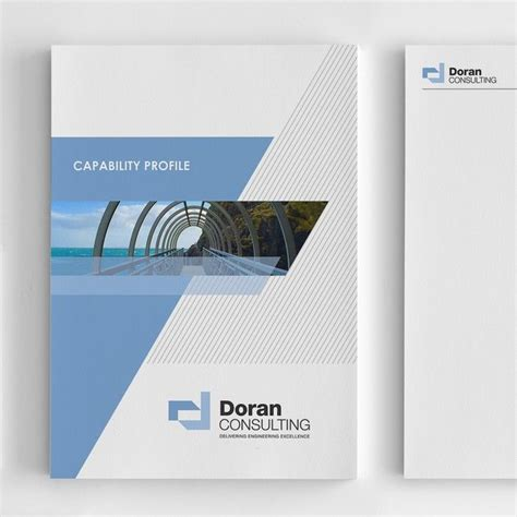 design background company profile company profile report cover for engineering consultancy
