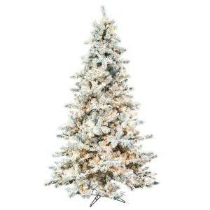 9 ft pre lit northern spruce heavy flocked artificial