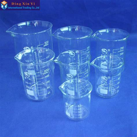 Promo Beaker Glassgelas Kimia Low Form 50 Ml shuniu glass beaker 7 pcs set 50 100 150 200 250 300