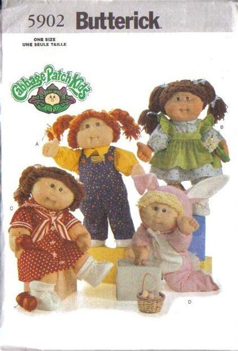 cabbage patch doll clothes pattern butterick sewing