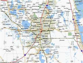 Maps Orlando by Map Of Orlando Fl