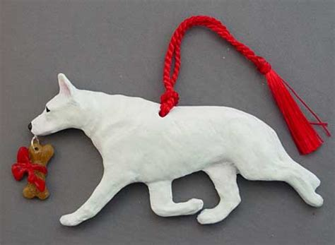 white german shepherd christmas ornaments 1001doggy com