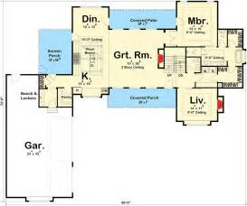 farmhouse floor plans modern 4 bedroom farmhouse plan 62544dj architectural designs house plans