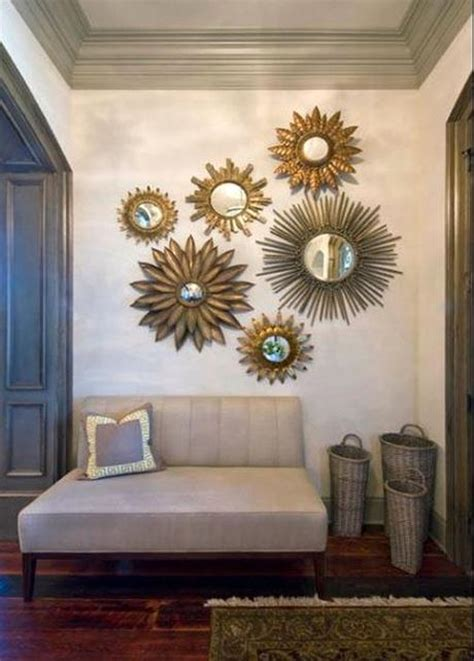 mirror home decor using sunburst mirrors in your home decor paperblog