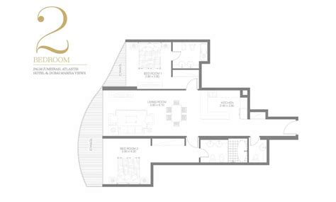 2 bedroom floor plan bay azizi royal bay 2 bedroom floor plan