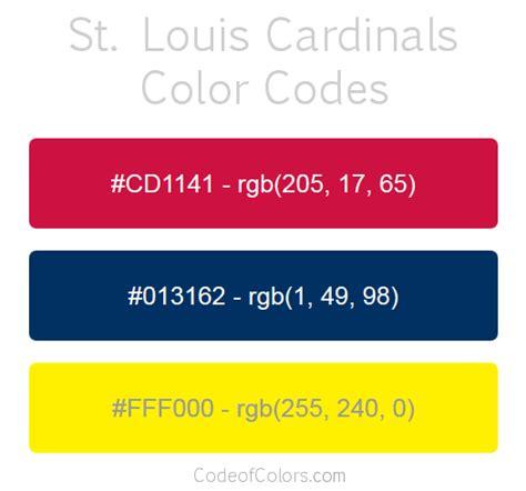 cardinal colors st louis cardinals colors hex and rgb color codes