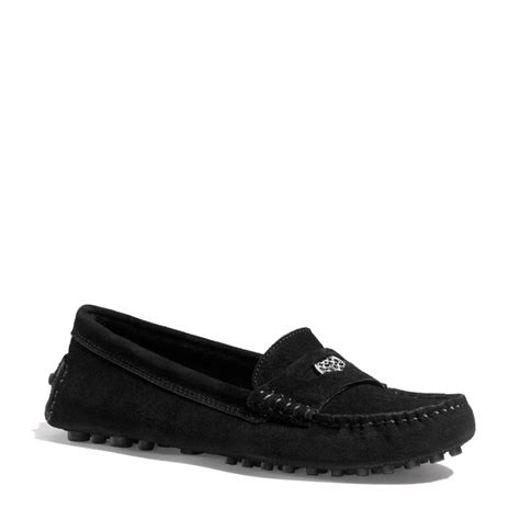 coach loafers coach nicola loafer in black lyst