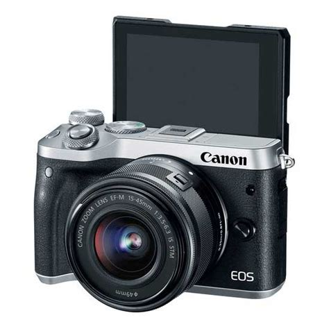 jual canon eos m6 kit ef m15 45mm f3 5 6 3 is stm silver