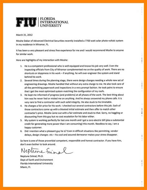 Letter Of Recommendation To Graduate School sle recommendation letter for graduate student how to