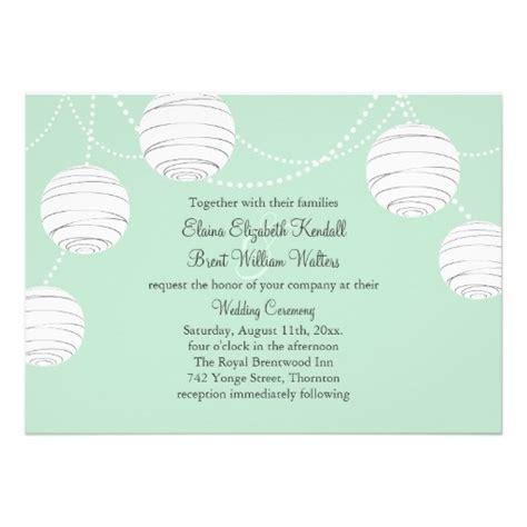 Einladung Hochzeit Mint by Laternen Hochzeits Einladung Mint Green 2057952