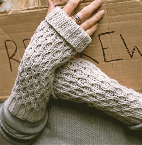 fingerless gloves knit pattern easy fingerless mitts knitting patterns in the loop knitting