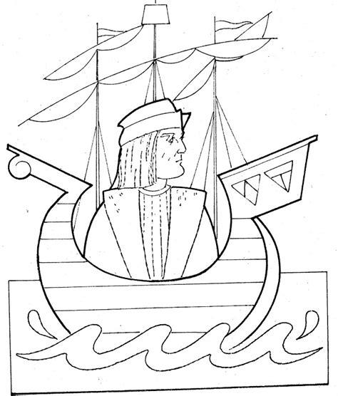 embarcaciones de cristobal colon para colorear pinto dibujos carabela para colorear