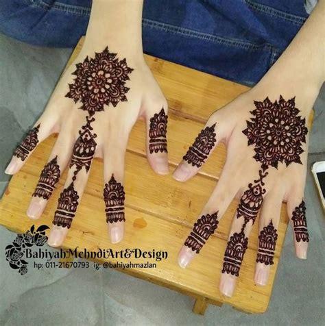 design henna yang cantik servis lukis inai henna cantik di melaka bahiyah mehndi