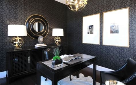grey wallpaper masculine 33 stylish and dramatic masculine home office design ideas