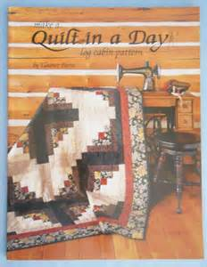 make a quilt in a day log cabin pattern eleanor burns