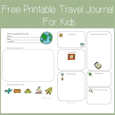 trip journal template free printable travel journal for from travel turtle