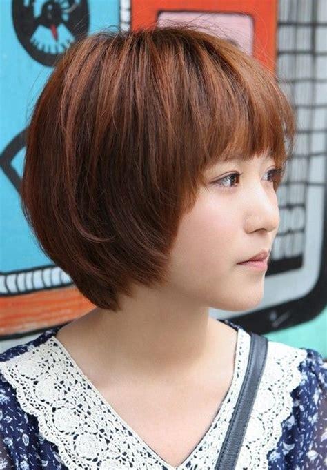 asian hairstyles  girls short straight hair popular