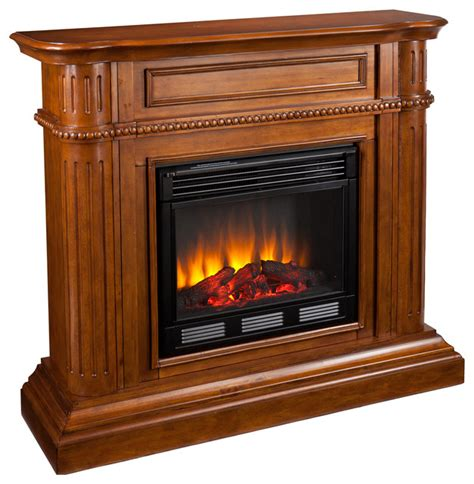 hawkins fireplace walnut electric traditional