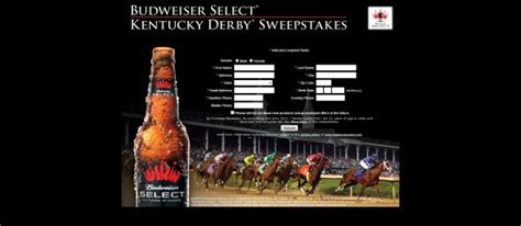 Budweiser Sweepstakes - budweiser select kentucky derby sweepstakes