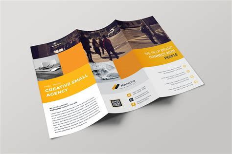 free minimalist tri fold brochure template printriver