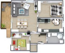 home design ideas 3d 50 3d floor plans lay out designs for 2 bedroom house or