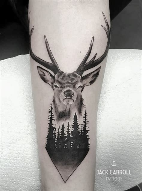 stag tattoo designs carroll tattoos gallery