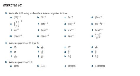 Negative And Fractional Exponents Worksheet by Zero Negative And Fractional Indices Worksheet