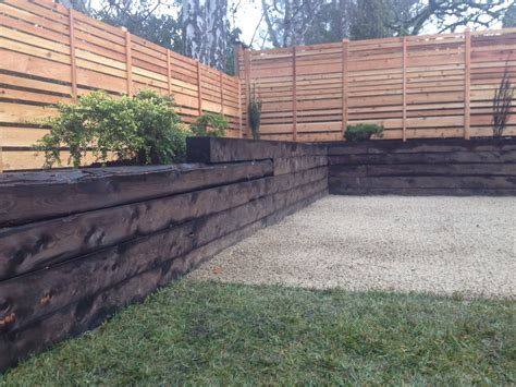 Image Result For How To Apply Shou Sugi Ban To An Exterior Retaining Wall Garden Bed