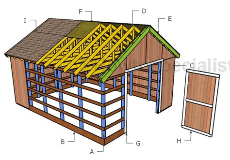 16x20 pole barn roof plans howtospecialist how to build step by step diy plans