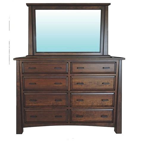 Country Mission Mule Dresser Mirror - englehart mule dresser amish crafted furniture