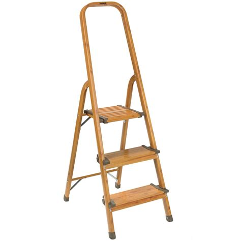 Wayborn Retractable Wooden Step Stool by Wooden 3 Step Ladders Qf02 Wendycorsistaubcommunity