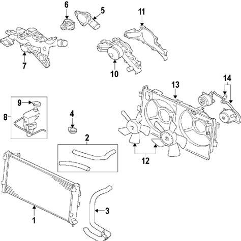 mitsubishi parts diagram mitsubishi outlander 2007 radiator parts diagram
