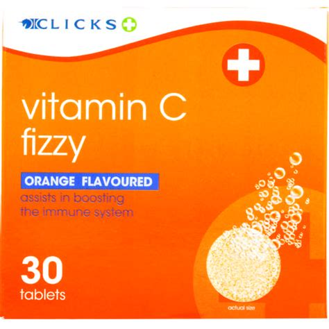 Vitamin Orange 1 clicks vitamin c fizzy orange 30 effervescent tablets clicks