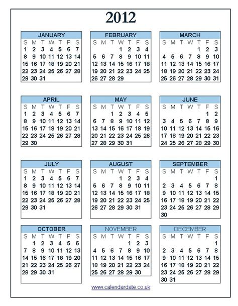 calendar uk  usa