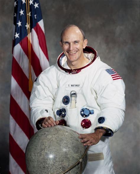 K Mattingly Ii by Nasa Apollo 16 Astronaut Ken Mattingly Colour Portrait