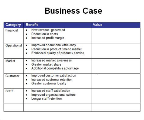 Business Study Template by Business Template 7 Free Pdf Doc