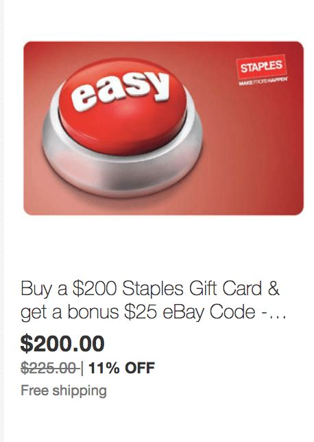 Sears E Gift Card - expired ebay save on staples and sears gift cards