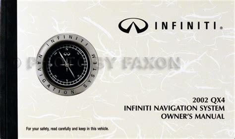 auto manual repair 1995 infiniti q navigation system 2002 infiniti qx4 cd rom repair shop manual