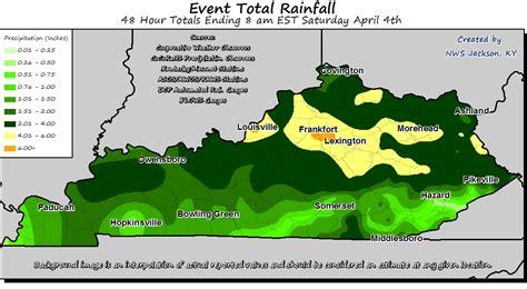 kentucky flooding map thunderstorms produce heavy rainfall flash flooding on